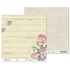 "Двусторонняя бумага ""Flora"" 2, 1 лист , 30*30 см от Rosa"