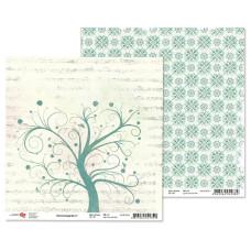 """Двусторонняя бумага """"Charmed garden"""" 1, 1 лист , 30*30 см от Rosa"""