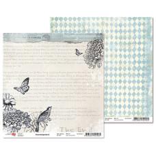 """Двусторонняя бумага """"Charmed garden"""" 2, 1 лист , 30*30 см от Rosa"""