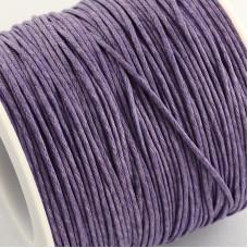 Вощенный шнур фиолетовый, 84 м , толщина 1 мм