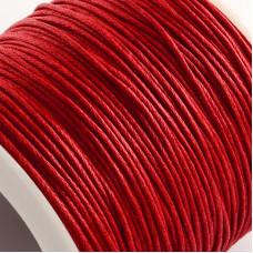 Вощенный шнур красный, 84 м , толщина 1 мм