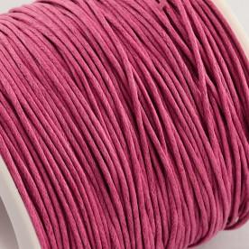 Вощенный шнур темно-розовый , 84 м , толщина 1 мм