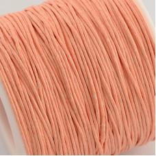 Вощенный шнур персиковый , 84 м , толщина 1 мм