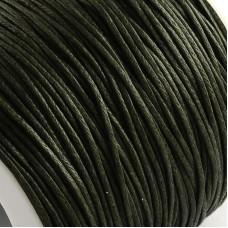 Вощенный шнур оливковый, 84 м , толщина 1 мм