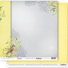 Двусторонняя бумага Сады Фонтенбло, 1 шт 30,5х30,5 см от ScrapBerry's