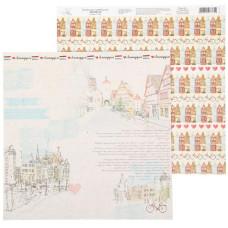 "Бумага для скрапбукинга ""Амстердам"", 29,5*29,5 см 180 гр/м2 от АртУзор"