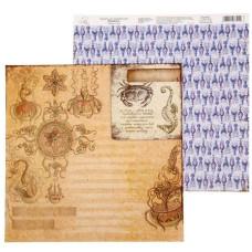"""Бумага для скрапбукинга """"Морские обитатели"""", 29,5*29,5 см 180 гр/м2 от АртУзор"""