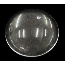 Стеклянный прозрачный кабошон 8 мм, толщина 3,5 мм , 1 шт