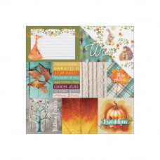 Двусторонняя бумага Woodland Friends Tags, 30*30 см, 1 лист от Paper House