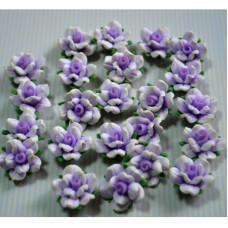 Кабошон Розочка из полимерной глины , цвет фиолетовый, размер 20 мм