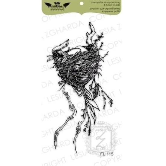 "Акриловый штамп ""Гнездышко на дереве"" от Lesia Zgharda"