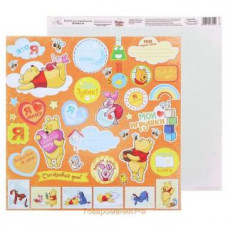 """Бумага для скрапбукинга """"Счастье с пеленок: Мои игрушки"""", 29,5*29,5 см от АртУзор"""