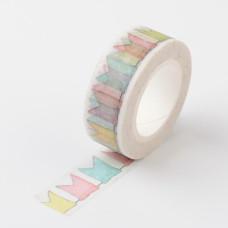 Бумажный скотч Arrow Pattern, 15 мм ,10 м