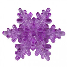 Акриловое украшение Снежинка, размер 6,5 см, цвет фиолетовый, 1 шт