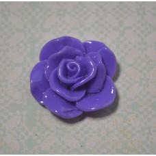 Кабошон Роза раскрытые лепестки, цвет фиолетовый, 15*6 мм, 1 шт