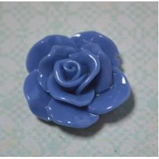 Кабошон Роза раскрытые лепестки, цвет сизый, 15*6 мм, 1 шт