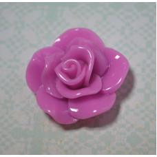 Кабошон Роза раскрытые лепестки, цвет сиреневый, 15*6 мм, 1 шт
