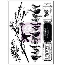 Набор резиновых штампов Songbird 4 шт. от Prima