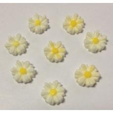 Кабошон Ромашка, цвет белый, размер 9 мм, 1 шт