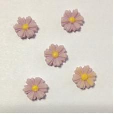 Кабошон Ромашка, цвет сиреневый, размер 9 мм, 1 шт