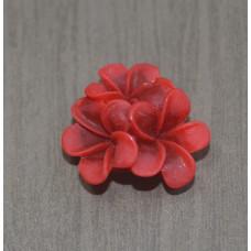 Кабошон Цветок, цвет бордовый, размер 21 мм, 1 шт