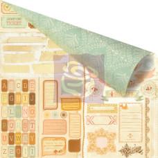 Двусторонняя бумага для скрапбукинга Title-it - Songbird от Prima