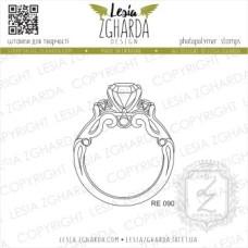 """Акриловый штамп """"Обручальное кольцо"""", 4,1*5 см от Lesia Zgharda"""