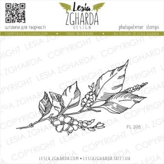 """Акриловый штамп """"Цветущая веточка"""", 8,6*3,5 см от Lesia Zgharda"""