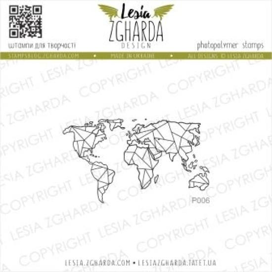 """Акриловый штамп """"Карта маленькая"""", 5,4*3,1 см от Lesia Zgharda"""