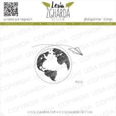 """Акриловый штамп """"Вокруг света"""", 4,4*3,4 см от Lesia Zgharda"""