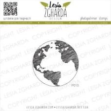 """Акриловый штамп """"Земной шар"""", 4,2*4,2 см от Lesia Zgharda"""