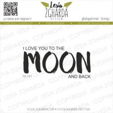 "Акриловый штамп ""I LOVE YOU TO THE MOON AND BACK"", 6*2,8 см от Lesia Zgharda"