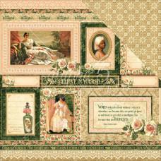Двусторонняя бумага Blanche, 30*30 см от Graphic 45