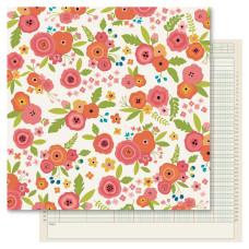 Двусторонняя бумага Bouquet, 30*30 см, 1 шт от Ruby Rock-It