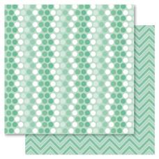 Двусторонняя бумага Green Spotti, 30*30 см от Ruby Rock-It