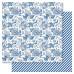 Двусторонняя бумага Blue Floral, 30*30 см от Ruby Rock-It