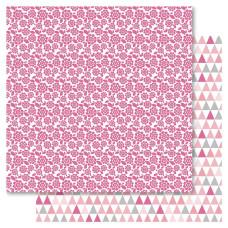 Двусторонняя бумага Pink Floral, 30*30 см от Ruby Rock-It