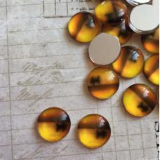 Стеклянный кабошон Речная прогулка, 1 шт, 12 мм
