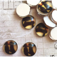 Стеклянный кабошон Романтика, 1 шт, 12 мм