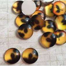 Стеклянный кабошон Закат, 1 шт, 12 мм