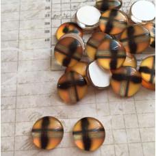 Стеклянный кабошон Отражение, 1 шт,  12 мм