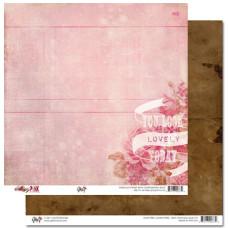Двусторонняя скрапбумага Pretty in Pink - Ledger от Glitz Design