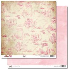 Двусторонняя скрапбумага Pretty in Pink - Toile от Glitz Design