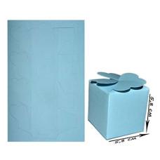 Заготовка коробочка из дизайнерского картона, цвет голубой, 27*17 см от Hobby&You