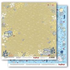 Двусторонняя бумага Морские сокровища, 30,5х30,5 см от ScrapBerry's