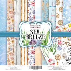"""Набор скрапбумаги """"Sea Breeze"""", 10 л, 20*20 см от Фабрика Декора"""