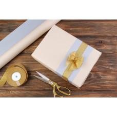 Бумага упаковочная рулонная, серая-пудра персик, 8м х 70см, 80 г/м²