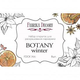 """Набор открыток для раскрашивания маркерами """"Botany winter"""""""