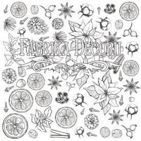 Лист для для раскрашивания маркерами Botany winter 30,5x30,5 Фабрика Декора
