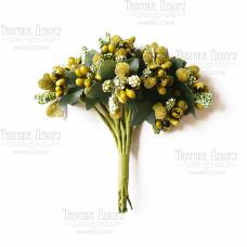 Набор декоративных веточек, оливковые, 12 шт от Фабрика Декора